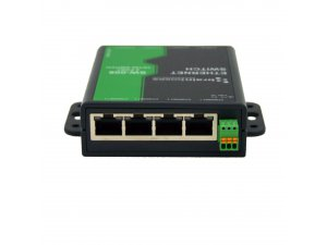 Brainboxes SW-008 8 Port Unmanaged Ethernet Switch Wall Mountable