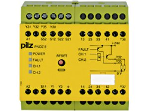 PNOZ 8 110VAC 3n/o 1n/c 2so