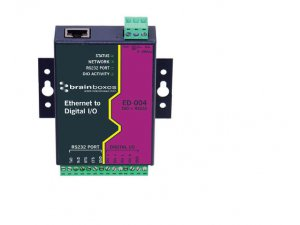 Brainboxes ED-004 Ethernet to 4 DIO + Ethernet to RS232