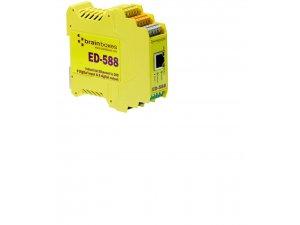 Brainboxes ED-588 Ethernet 8 Digital Inputs + 8 Digital Outputs