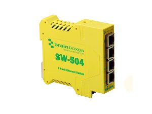 Brainboxes SW-504 Industrial 10/100MBps Ethernet 4 Port Switch