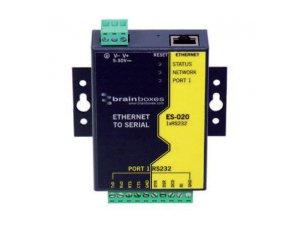 Brainboxes ES-020 Ethernet 1 Port RS232 10xScrew Terminals