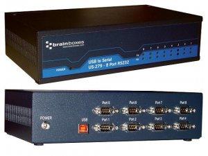 Brainboxes US-279 USB 8 Port RS232 1MBaud