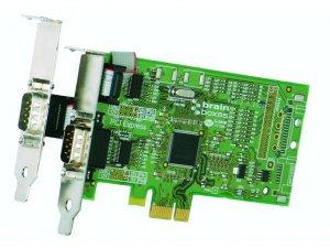 Brainboxes PX-101 LP PCIe 1+1xRS232 1MBaud