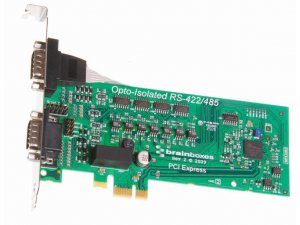 Brainboxes PX-310 PCIe 2xRS422/485 1MBaud Opto Isolated