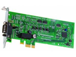 Brainboxes PX-376 LP PCIe 1xRS422/485 1MBaud Opto Isolated