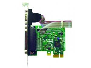 Brainboxes PX-475 PCIe 1xRS232 1MBaud + 1xLPT Printer Port