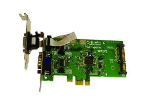 Brainboxes PX-801 LP PCIe 1+1xRS232 POS 1A SATA