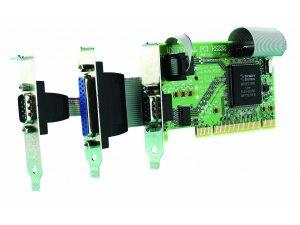 Brainboxes UC-203 LP uPCI 1+1xRS232 + 1xLPT Printer Port