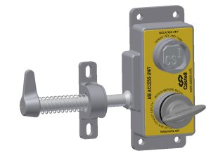 Castell AIE-FSAL-E-1 vstupní zámek pro 2 výměnné klíče levý