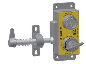 Castell AIE-FSS-E-2 vstupní zámek pro 2 výměnné klíče levý