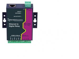 Brainboxes ED-038 Ethernet to 3x Relay + 3 Digital Inputs