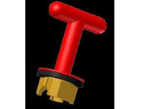 Castell FKW6-RED klíč mosazný potážený nylonem červený