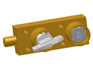 Castell KL-FSB-1S-6.4-4-D zámek se západkou pro dva klíče mosazný