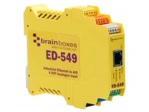 Brainboxes ED-549 Ethernet to 8 Analog Inputs + RS 485 Gateway