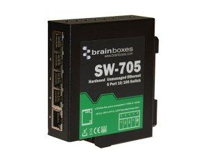 Brainboxes SW-705 Hardened 10/100MBps Ethernet 5 Port Switch