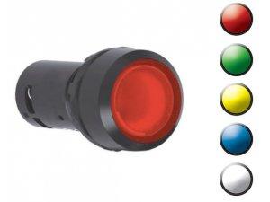 Idem Safety 522324 Compact Illuminated PB Momentary - BLUE